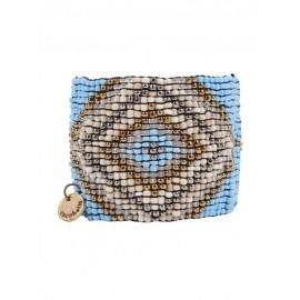 Браслет из бисера Cocobelle голубой Aztec