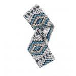 Пояс из бисера Aztec голубой