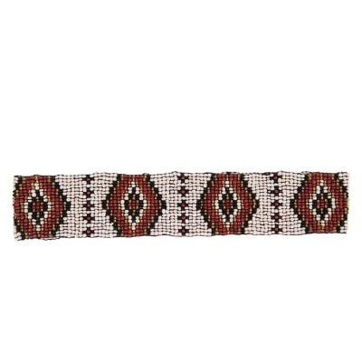 Пояс из бисера Aztec бронзовый ромб