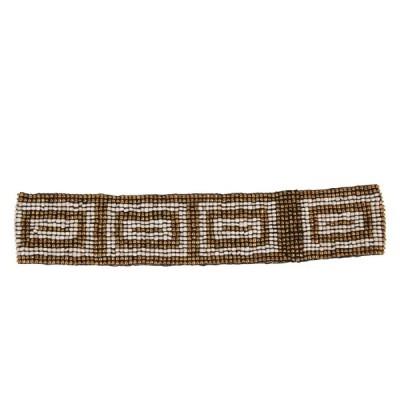 Пояс из бисера Greek бронзовый