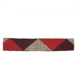 Красный эластичный пояс из бисера