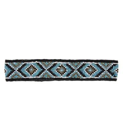 Пояс из бисера Aztec синий