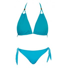 Голубой купальник халтер PHAX