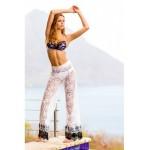 Пляжные штаны Sauvage Bardot с кружевом